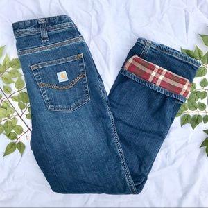 Carhartt flannel jeans